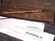 AURORA THESI PENNA A SFERA VERMEIL IN ARGENTO 925 e ORO + GARANZ +BOX Silver Pen