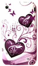 for IPHONE 3 3G 3GS HEARTS & FLOWERS HARD CASE COVER , GREAT LOOK AND PROTECTION
