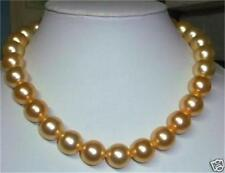 """8mm gold south sea shell pearl necklace 18""""  x-04"""