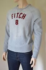 New abercrombie & fitch mount marshall détruit sweat à encolure ras-du-cou xl rrp £ 90
