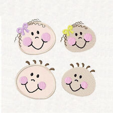 1037:  Machine Embroidery Designs - Happy Little Faces