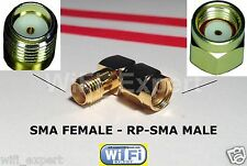 RIGHT ANGLE SMA female To RP-SMA Male connect SMA to RP-SMA RF Connector Adapter