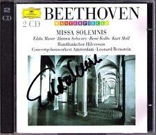 Edda MOSER Signed BEETHOVEN Missa Solemnis BERNSTEIN 2CD Hanna Schwaz Rene Kollo