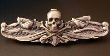 Skull & Cross Bones Us Naval Surface Warfare Specialist Esws Badge Pin Enlisted