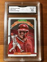 2020 Donruss Optic Mike Trout Diamond Kings #9 GMA 10 Los Angeles Angels