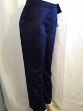 Denim & Co. Metrocord Pant Size Small Waist 26 Color Navy Blue