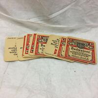 9 Vintage Budweiser Coasters Paper Composite