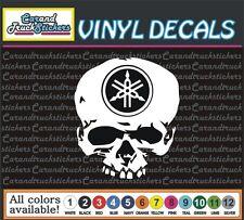 "6"" Yamaha Motorcycle Racing Skull Crossbones Vinyl Decal window sticker"