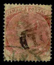1860-63 Jamaica #2 Queen Victoria Watermark 45 - Used - VF - CV$60.00 (ESP#3475)