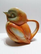 New ListingSevres China East Liverpool Ohio Orange Robin Bird Duck Pitcher c.1908