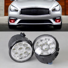 2Pcs Right/Left Fog Lamp Light LED Daytime Running Light DRL for Nissan Infiniti