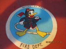 WWII  DISNEY DONALD DUCK USMC MCAS EL TORO FIRE DEPT  FLIGHT JACKET PATCH