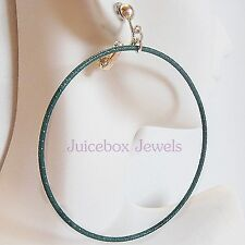 CLIP ON Thin Large COLOR HOOPS  2 -3/4 inch Non-Pierced Fashion Earrings 1 Pair