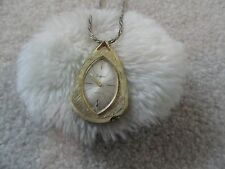 Sheffield Wind Up Vintage Necklace Pendant Watch - Runs Fast