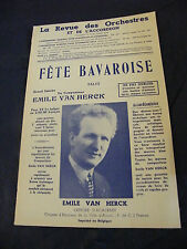 Partition Fête Bavaroise Emile Van Herck 1962 Music Sheet