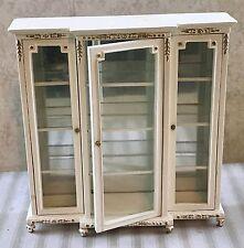 Vintage BESPAQ Miniature Dollhouse Gilt Baroque Glass Mirror Display Cabinet
