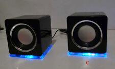 diseño USB Altavoces para el ordenador portátil PC TV NEGRO (DS)