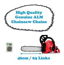 GREENWORKS 13A Electric 20032 Genuine ALM Chainsaw Chain 46cm 63 Links