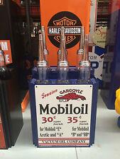 MOBILOIL MOBIL  REPR0 6 BOTTLE OIL RACK AND 6 BOTTLES  NOT BOWSER GOLDEN FLEECE