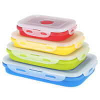 kITCHENY Silicone Collapsible Non Stick Food Storage Lunch Box Container