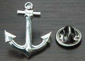 Anchor Pin Badge Sailor Nautical Boat Ship Navy Brooch