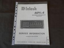 Mcintosh mpi-4 manuale di servizio