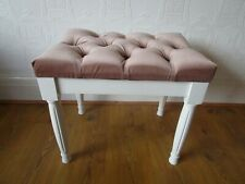 Button Topped Upholstered Dressing Stool