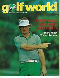 1981 1/16 Golf World Newsweekly magazine Johnny Miller wins at Tucson VG