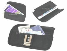 Fitted Case Holster w/Pocket To Hold Money Card Sturdy Pouch w/Metal Belt Clip