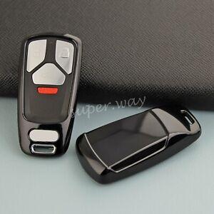 For Audi A4 A5 Q5 Q7 S4 S5 SQ5 B9 TT Black TPU Car Smart Key Case Cover Holder