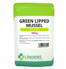 Green Lipped Mussel 500mg 90 Capsules Joint Pain Relief, Arthritis Lindens