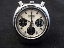 Rare Vintage Bullhead CITIZEN AUTOMATIC CHRONOGRAPH VERY REAR color combination