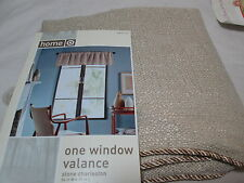 New Home Window Valance Stone Charleston 54X15 Nip