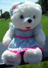 "19"" DanDee 2015 Snowflake Teddy Bear Plush Polar Winter Christmas Blue/Pink"
