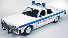 1:18 AUTOWORLD BLUES BROTHERS SERIES WHITE CHICAGO POLICE 1974 DODGE MONACO