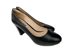 Clarks Narrative Womens Black Leather Smart Shoes Size UK 5.5 EU 39