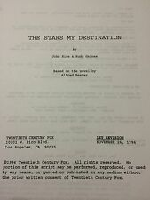 The Stars My Destination unfilmed unproduced screenplay Alfred Bester RiceGaines