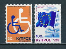 Cyprus  432-3 MNH, Disabled Persons, Flag, 1975