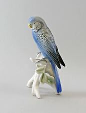 Porzellan Figur Wellensittich blau Vogel Ens H17cm 9997710#