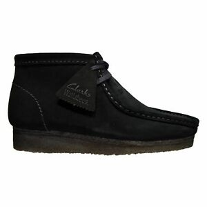 NEW MEN EXCLUSIVE CLARKS OF ENGLAND BLACK SUEDE ORIGINAL WALLABEE 26103669-33281