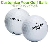 Custom Printed Text or Logo Bridgestone Tour B330 Mint Golf Balls 1 Dozen