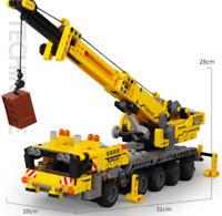 Sembo Blocksteine Engineering Kran Kinder Figur Spielzeug Model Geschenk 665PCS