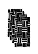 """Black & White Basket Weave 18"""" x 18"""" Napkins 1 Dozen"""