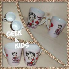 Lot de 2 Mugs Betty Boop - Rose - Coeur - Scooter - Cartoon - Ref M1