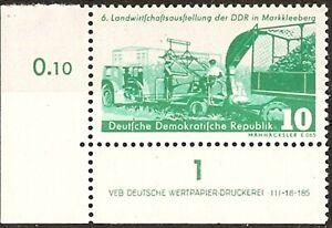 Briefmarken DDR MiNr. 629  Landwirtschaft Druckvermerk DV  DWD li 1LZ  **