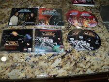 Star Wars X-Wing Alliance (PC) & Star Wars Galactic Battlegrounds (PC, 2001)