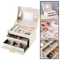 Large Jewellery Box Cabinet Necklace Armoire Birthday Gift Organizer Bracelet UK