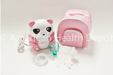 Child Pediatric Nebulizer Compressor Treats Asthma COPD Pink Panda Bear MQ6005