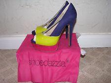 ShoeDazzle Ailsa Peep Toe Heels Pumps Purple/Volt/Fuscia Women's Size 7.5 NEW!