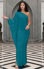 15efbfbe4e3 Womens Long Sexy One Shoulder Evening Cocktail Semi Formal Elegant Maxi  Dress